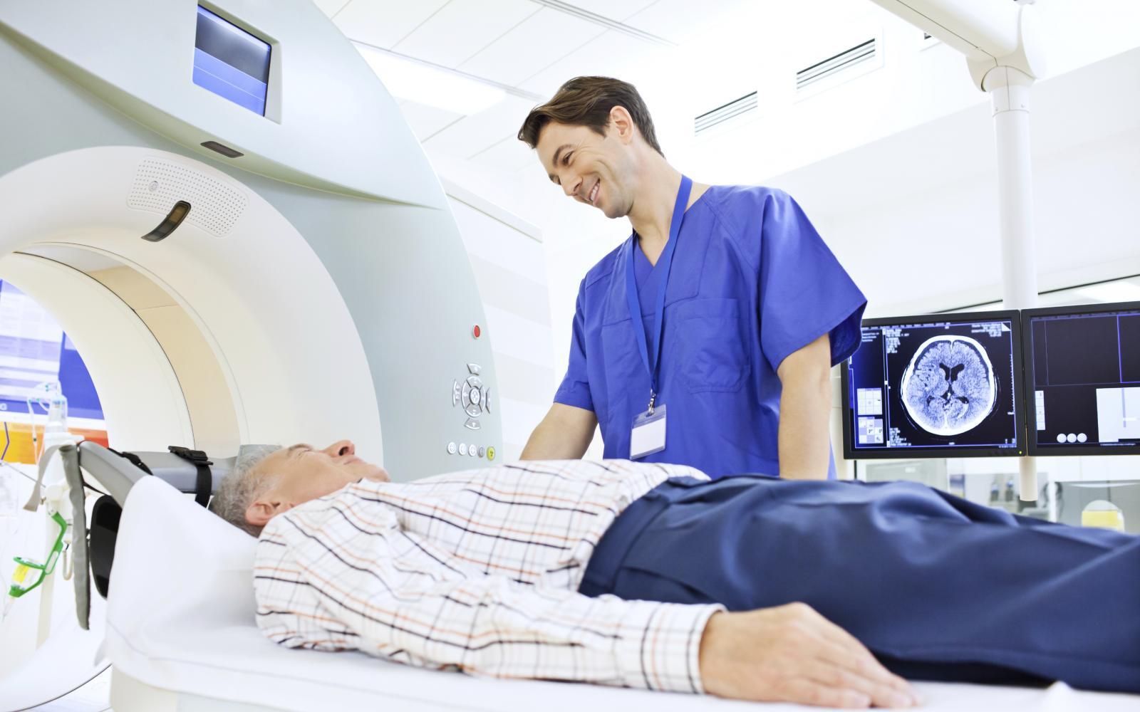 Man in MRI